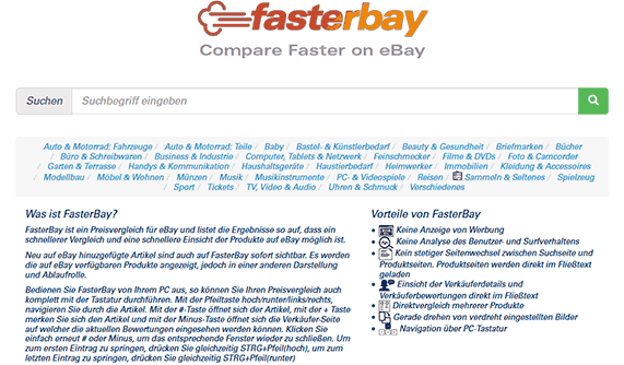 FasterBay, Search Faster on eBay