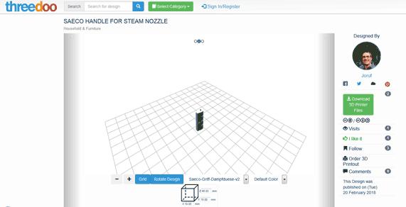 Threedoo, 3D-Druckbare Dateien herunterladen
